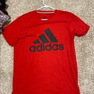 Large Men's red Adidas T-shirt